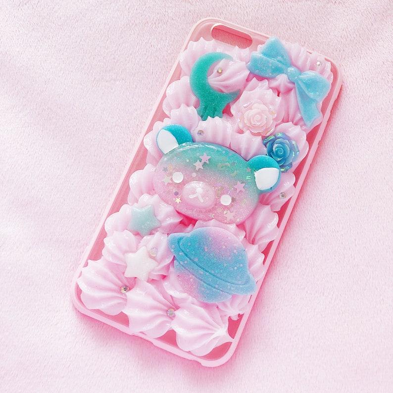san francisco cb7f6 066e4 Starry Rila iPhone 6+ case, kawaii decoden, whip phone case, rila space  case, rila phone case, decoden iphone case