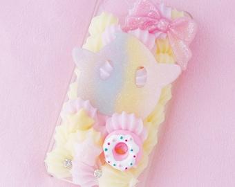 Luma iPhone 4 decoden case, kawaii decoden phone case, Luma phone case, pastel decoden case, iphone 4 case