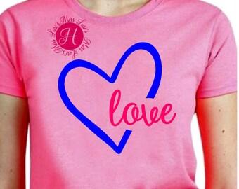 Heart love SVG DFX Cricut cameo heart svg, love heart svg, Valentines svg, Commercial use