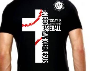 All i need is Baseball and a whole lot of Jesus cross  SVG DFX Baseball SVG, Christian svg, Corss svg, Commercial license, Jesus svg