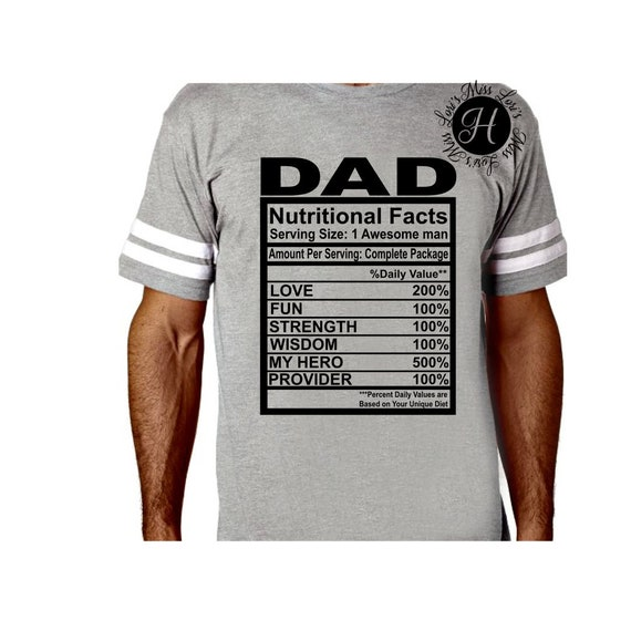 Dad Nutritional Facts Svg Dfx Eps Png Cricut Cameo With Etsy