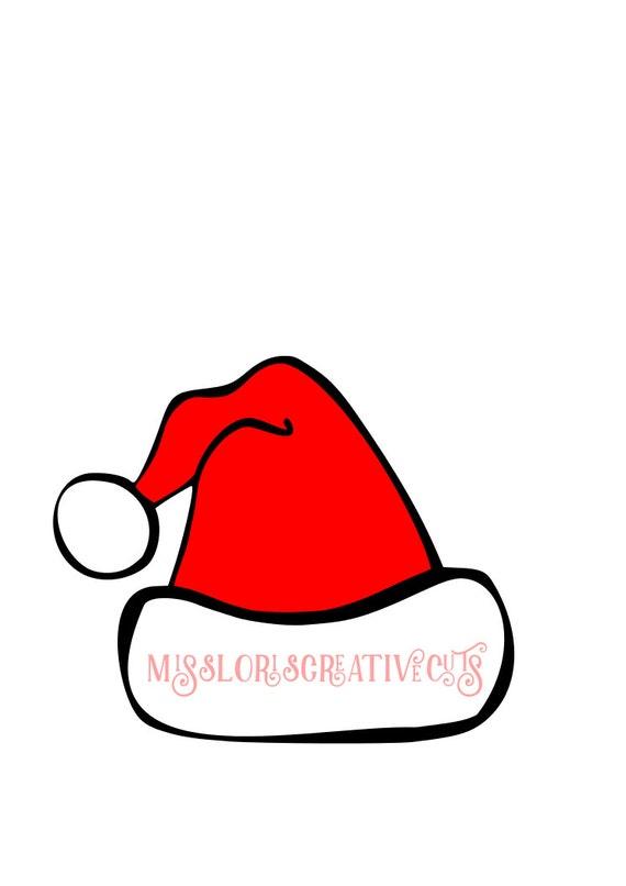Santa Hat 2 Svg Cricut Cameo Christmas Svg Santa Hat Svg Etsy