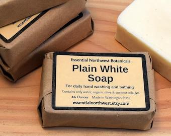 Plain White Soap - 4.6 oz. – Organic & Veggie
