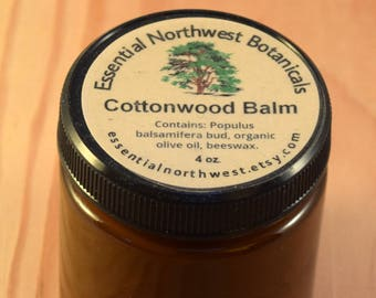 Cottonwood Balm 4 oz. jar  - Balm of Gilead - Cottonwood Salve