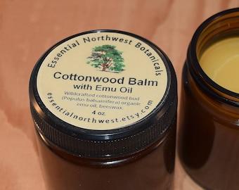 Cottonwood Balm w/ Emu Oil  4 oz. jar - Balm of Gilead - Cottonwood Salve