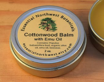 Cottonwood Balm w/ Emu Oil  2 oz. tin - Balm of Gilead - Cottonwood Salve