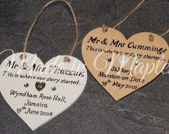 Wooden Wedding / Anniversary Gift