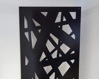 Metal Privacy Screen Decorative Panel Outdoor Garden Yard Art - Abstract1