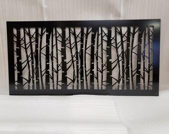 Decorative Panel Metal Outdoor Garden Privacy Screen Yard Art - Birch Tree