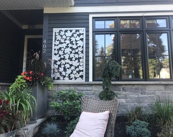 Metal Privacy Screen Decorative Panel Garden Fence Decor Art - Mapleleaf1