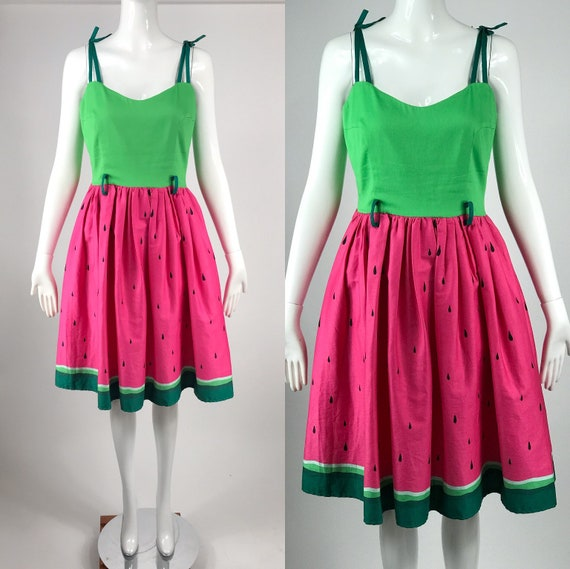 Vtg 50s style rockabilly circle skirt dress kitsch