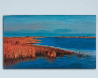 Large Landscape Painting Wall Art Abstract Painting Original Modern Art  Abstract Seascape Canvas Art Large Painting on Canvas Wall Decor