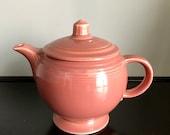 Vintage Fiestaware Rose Medium Teapot Free Shipping