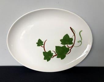 Joni China Oval Ivy Platter