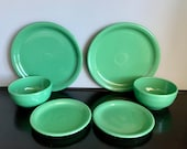 Set of 2 Post-1986 (Contemporary) Sage Fiestaware 3-Piece Bistro Sets Free Shipping