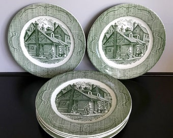 Royal China Co. (USA)  Old Curiosity Shop Dinner Plate - 6 Available!!