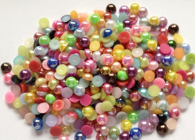1000 2MM FLAT BACK PEARLS CARD MAKING CRAFT EMBELLISHMENTS
