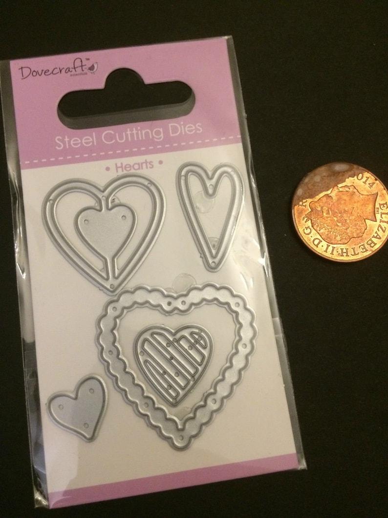 Metal Die Cutter Hearts 5 Dies cutting cut Stencil Handmade Scrap booking  Cards Craft Card making dies Paper Die Cutter