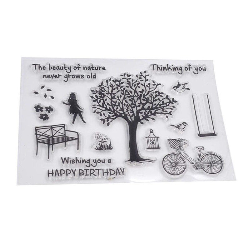 Tree Of Life Rubber Silicone Seal Stamp Re Usable Clear Stamp Etsy