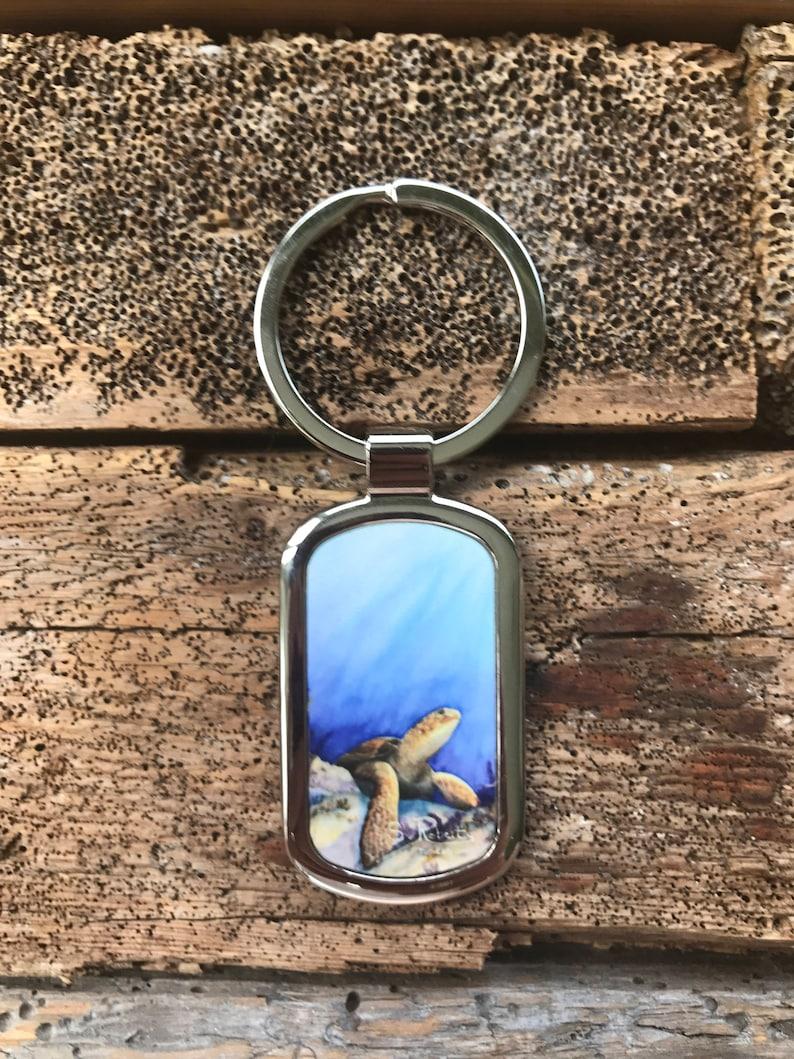 Sea Turtle Metal Key Rings