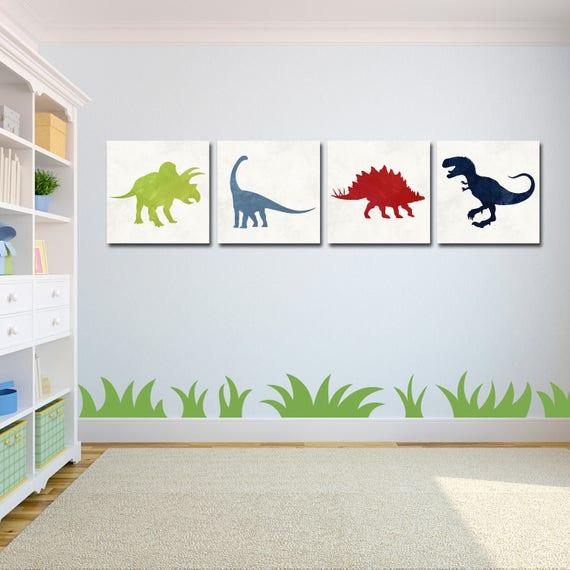Dinosaurier Kunst Dinosaurier Dinosaurier Kinderzimmer Etsy