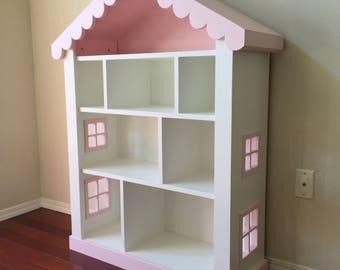dollhouse bookcase kids bookcase childs bookshelf - Kid Bookshelves
