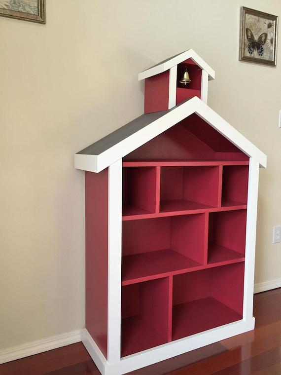 Schoolhouse Firehouse Bookcase Kids Childrens Bookshelf