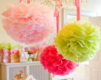 Pompom 30. Escoge tu propio color, decoración del partido, decoración de la boda, cumpleaños, babyshower...