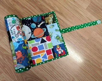 Roll-up I-Spy Quilted Activity Mat