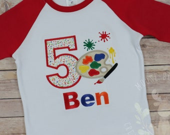 0796f0a0c67 Paint Party Boys Shirt