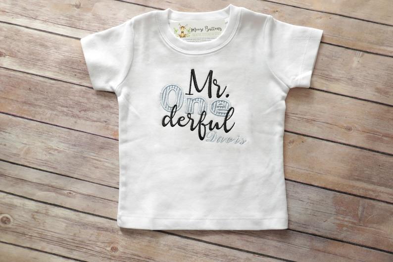 Mr Onederful Birthday Shirt One Derful Boys