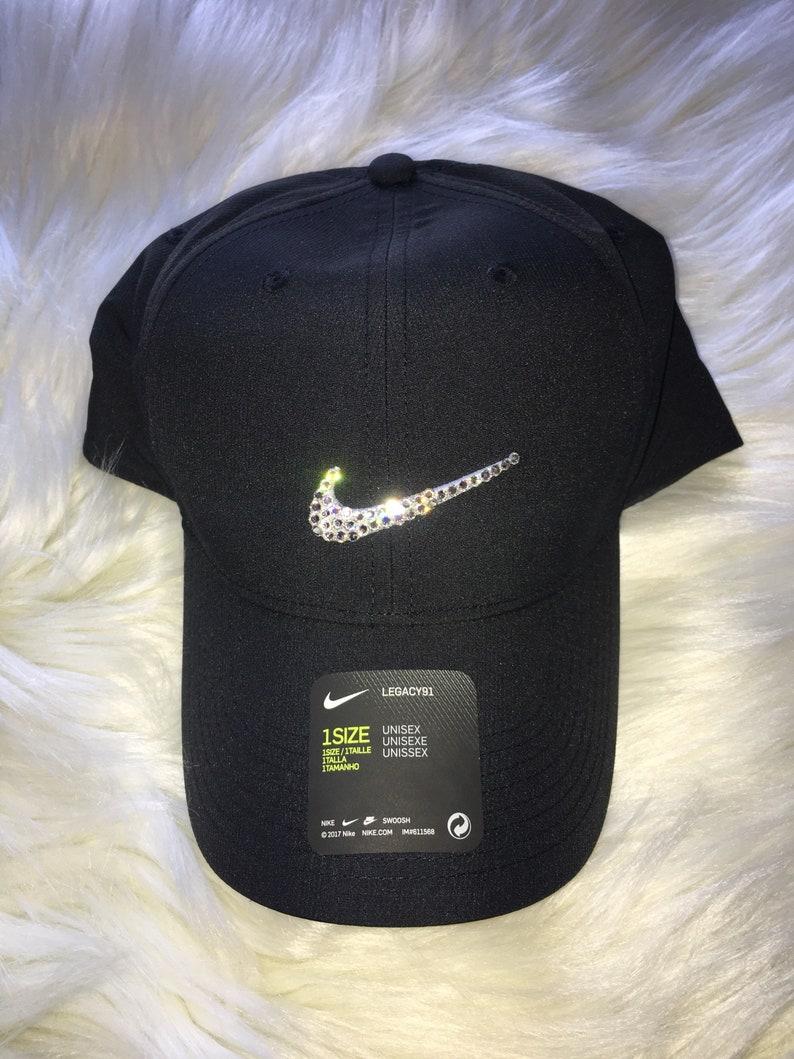 ac48cb962a44c Black Bling Nike Legacy Baseball Cap