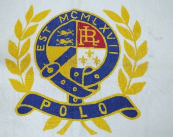 Vintage 90s Polo by Ralph Lauren Crest Logo Towel for Wall Decoration