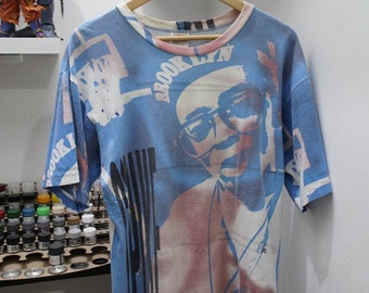 d76e679360c4b Vintage Nike 80s Spike Lee All Over Print 90s Grey Tag