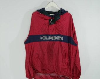 Vintage Tommy Hilfiger Spellout Lightweight Jacket 90s Cagoule