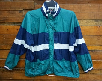 9ff34538dc01 Rare Vintage Jcpenney Colorblock USA Olympic Brand Apparel Windbreaker