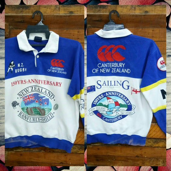 Rare Vintage Canterbury Of New Zealand 150 year Annivesary Sweatshirt, Fit M, NZ Rugby, Yachting, Canterbury Sweatshirt