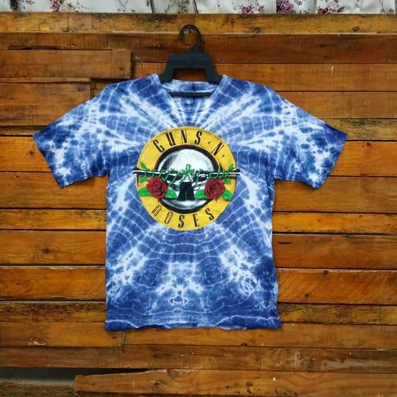 Rare Vintage 80s GUNS N ROSES Tye Dye T Shirt, Siz