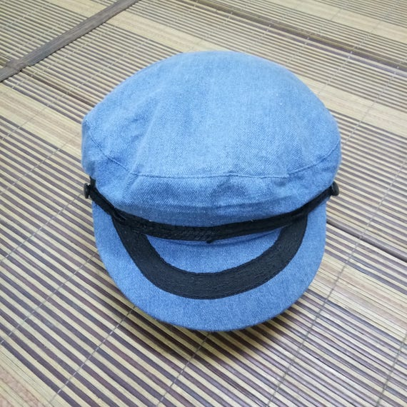 Rare Vintage Captain Cap/Biker Cap Hat/Size 57/Roc