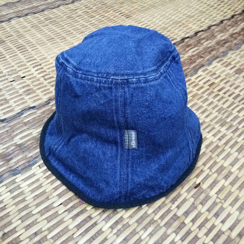 c821d1d959a Vintage Ellesse Denim Bucket Hat Free Size Ellesse Hat