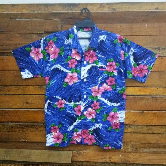 Rare Vintage Hawaii Hibiscus All Overprint Shirt,