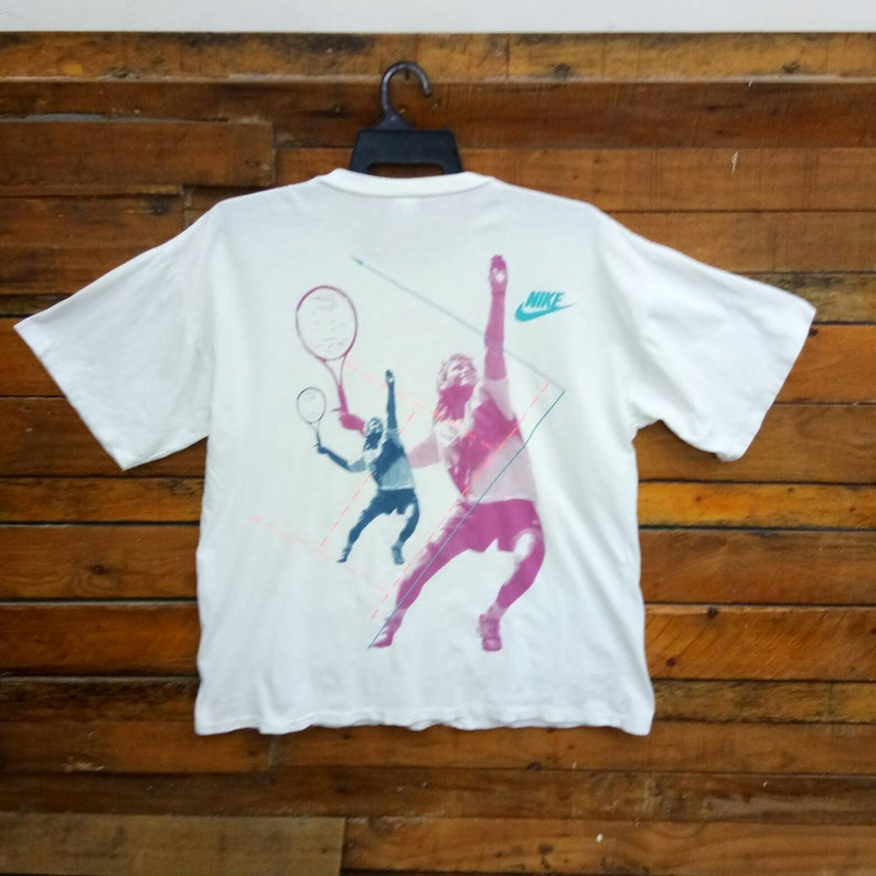 5cfeb6a9 Rare Vintage 90s Nike Andre Agassi T Shirt Size L XL Nike   Etsy