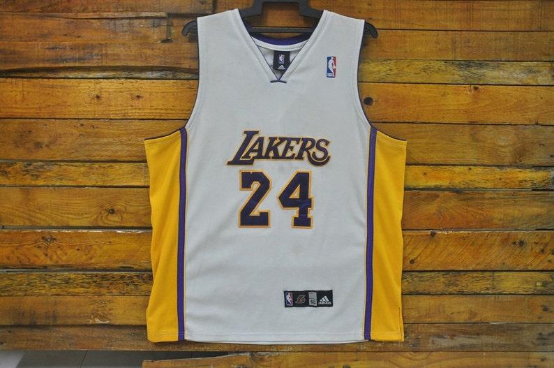 premium selection 496fd bc649 Rare Vintage Los Angeles Lakers Kobe Bryant Adidas Jersey,Size 50,LA Lakers  Kobe Bryant Jersey,Lakers Bryant 24,Hip Hop,RAP,Streetwear,Skate