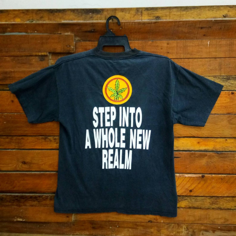 Cypress Hill Step Into A Whole New Realm T Shirt 90s Cypress Hill Hip Hop Band T Shirt Rare Vintage Cypress Hill T Shirt Size L