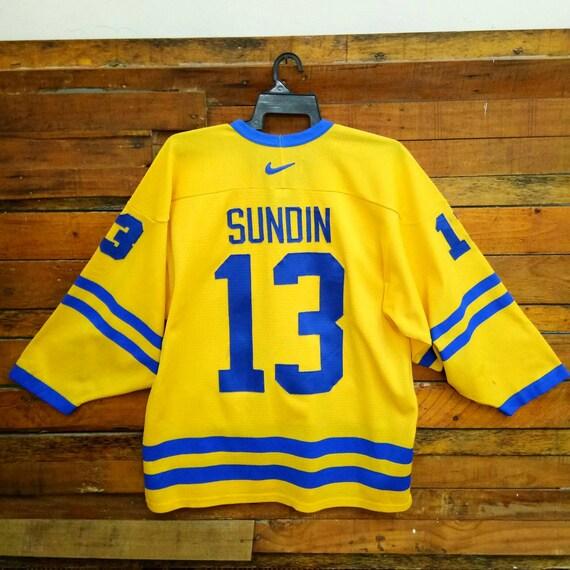 fina artesanía mas fiable invicto x Vintage Nike Mats Sundin Team Sweden Hockey Ice Jersey Size | Etsy