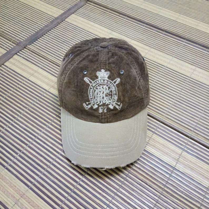 ff8ef04a8 Rare Vintage Polo Ralph Lauren Corduroy Cap Hat One Size Fits