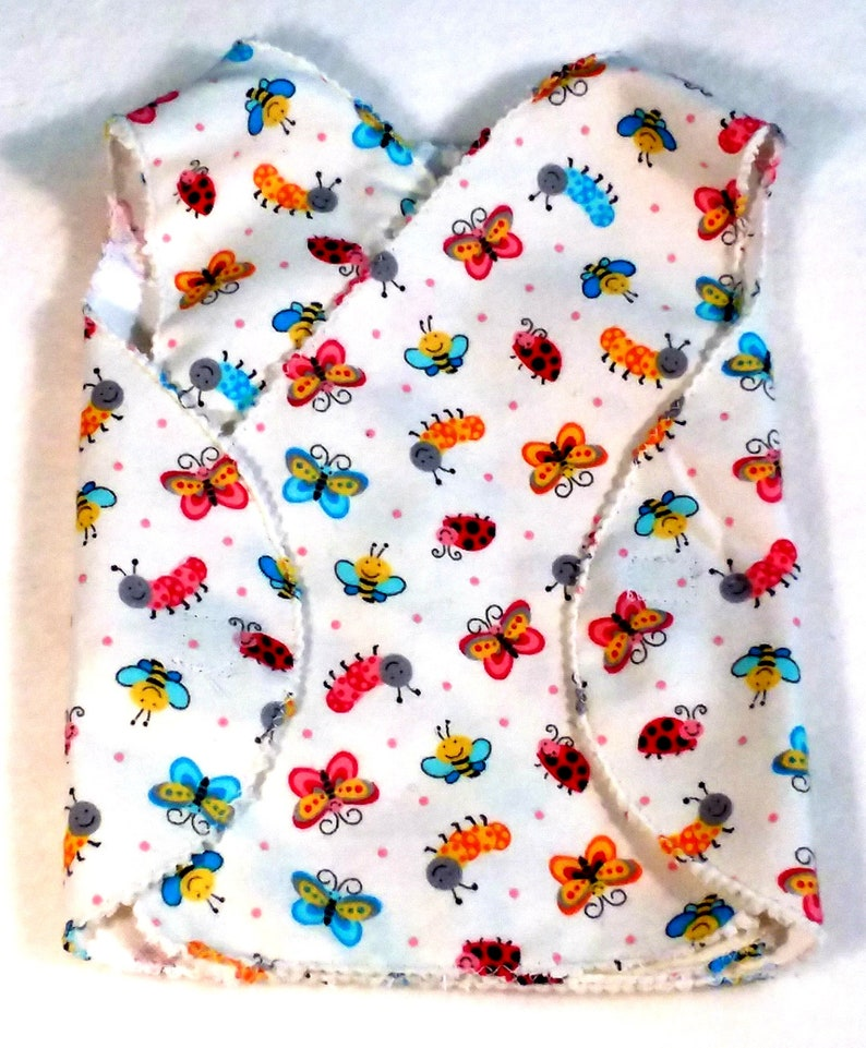 Gift for the Preemie Girl Boy Adorable Smock Bugs and Butterflies Baby Gown MICRO Preemie Hospital Gown Flannel NICU Approved Gown 3-5 lbs