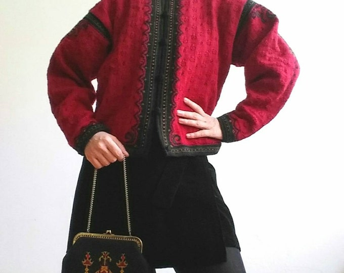 Dale of Norwey ~ Vintage 70s/80s knit ~ Made in Norwey ~ Pure New Wool ~ Russian Style