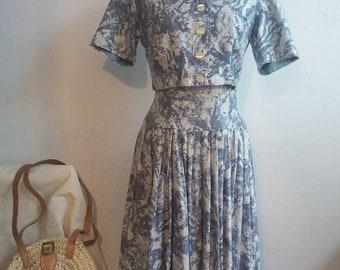 81576f09c34e06 Vintage jaren 50 kleding en bijgesneden Shirt pak Saint Tropez Bardot stijl!