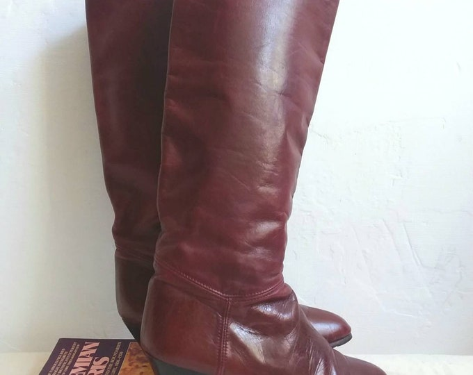 Vintage 70s/80s Ecologic Leather Boots ~ Size 36